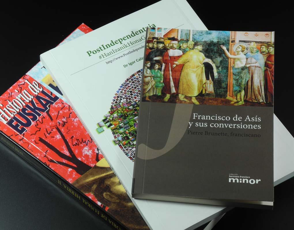 Impresión offset y digital de libros en encuadernación rústica. Gráficas Astarriaga